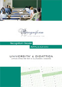 The data capture in the field of university and teaching