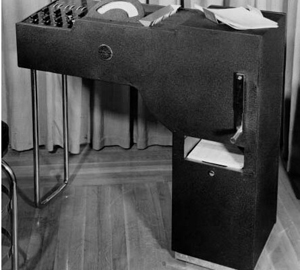 Type 805 Test Scoring Machine product in 1938 made by IBM: is it first device OMR electromechanical.